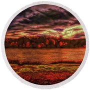 Round Beach Towel featuring the photograph Stormy Weather by John M Bailey