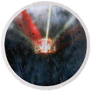 Stormy Weather Round Beach Towel by Nick Kloepping