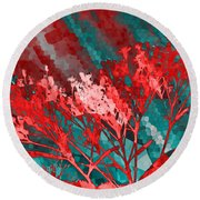 Round Beach Towel featuring the digital art Stormy Weather by Shawna Rowe