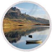 Storr Reflection Round Beach Towel