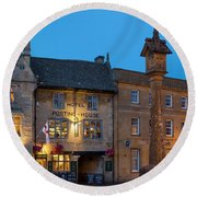 Round Beach Towel featuring the photograph Stow On The Wold - Twilight by Brian Jannsen