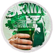 St. Patrick's Day Round Beach Towel