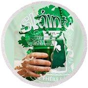 St. Patrick's Day Round Beach Towel