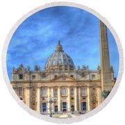 St. Peter's Basilica  Round Beach Towel