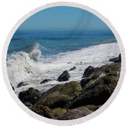 Round Beach Towel featuring the photograph Strait Of Juan De Fuca by Tikvah's Hope