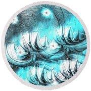Round Beach Towel featuring the digital art Strange Things by Anastasiya Malakhova