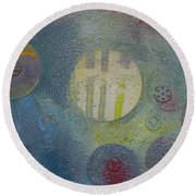 Strange Universe Round Beach Towel by Robert Margetts