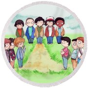 Stranger Goonie Stand By Me Things Round Beach Towel