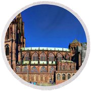 Strasbourg Catheral Round Beach Towel