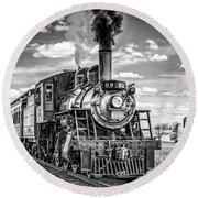 Round Beach Towel featuring the photograph Strasburg Canadian National 89 by Nick Zelinsky