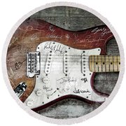 Strat Guitar Fantasy Round Beach Towel