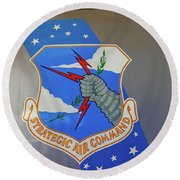 Strategic Air Command Round Beach Towel