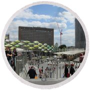Stratford Bus Station - London Round Beach Towel