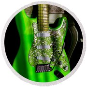 Stratocaster Plus In Green Round Beach Towel