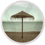 Round Beach Towel featuring the photograph Straw Shader by Carlos Caetano