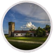 Strawberry County Round Beach Towel by Marvin Spates