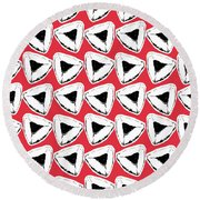 Round Beach Towel featuring the mixed media Strawberry Hamentashen- Art By Linda Woods by Linda Woods