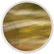 Streaks Of Color H Round Beach Towel
