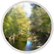 Stream Reflections Round Beach Towel by EricaMaxine  Price
