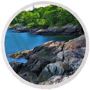 Stream To Sea Round Beach Towel