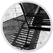 Street Bench Abstract Round Beach Towel
