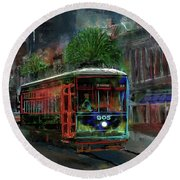 Street Car 905 Round Beach Towel