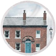 Street Of Working Class Terraced Houses Round Beach Towel