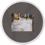 Street Wise Round Beach Towel