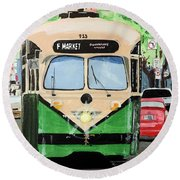 Streetcar Not Named Desire Round Beach Towel by Tom Riggs