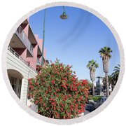 Streets Of Melbourne Round Beach Towel