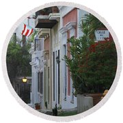 Streets Of Old San Juan Round Beach Towel