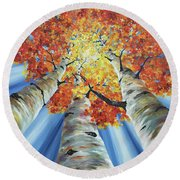 Striking Fall Round Beach Towel