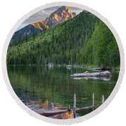 String Lake Round Beach Towel