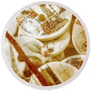 String Of Buttons Round Beach Towel