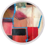 String Theory Abstraction Round Beach Towel