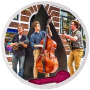 String Trio Round Beach Towel by John Haldane