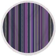 Stripes In Grayed Lavender Round Beach Towel