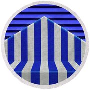Stripes Round Beach Towel