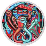 Striving For An Equilibrium Round Beach Towel