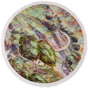 Striving To Sotres 1 Round Beach Towel