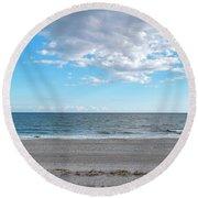 Stroll Along Myrtle Beach Round Beach Towel