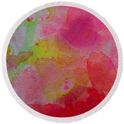 Round Beach Towel featuring the painting Stronger Every Day by Tracy Bonin