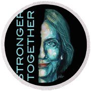 Stronger Together Round Beach Towel