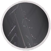 Strung Art Round Beach Towel