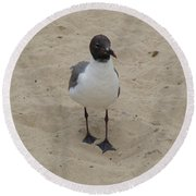 Struttin' Seagull  Round Beach Towel