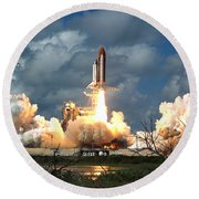 Sts-26, Space Shuttle Discovery Launch Round Beach Towel