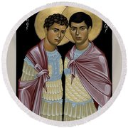Sts. Sergius And Bacchus - Rlsab Round Beach Towel