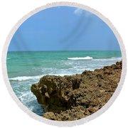 Stuart Beach Round Beach Towel by Carol Bradley