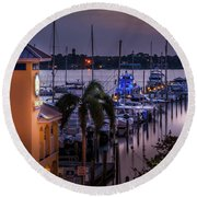 Stuart Harbor Round Beach Towel