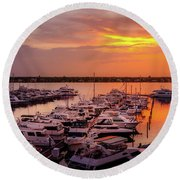 Stuart Sunset Round Beach Towel